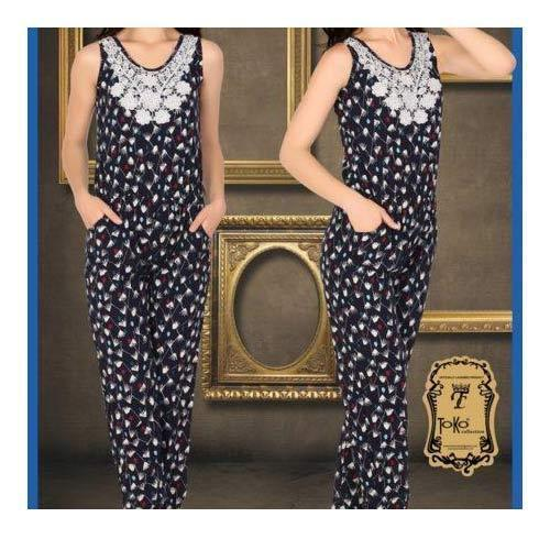 8d71496c4c Linen Full Length Printed Jumpsuit