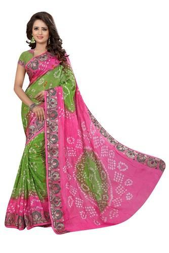 a4a2467e88 Art Silk Hand Printed Designer Bandhani Saree, Rs 1100 /piece | ID ...