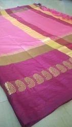 Zaree patta Border Cotton Silk Saree Party Wear, 6.3 m (with blouse piece)
