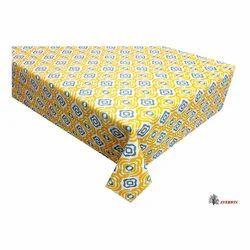 Printed Multicolor Linen Table Cloth Spread, Size: 150x150 Cms