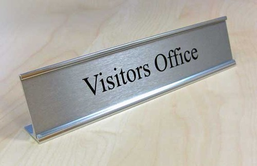 Aluminum Desk Name Plate