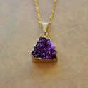 Titanium Purple Druzy Necklace