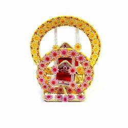 Options Color Coated Janamashtmi Wooden Jhoola, For Krishna Jhula