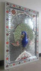 Colur Glass Art Peacock