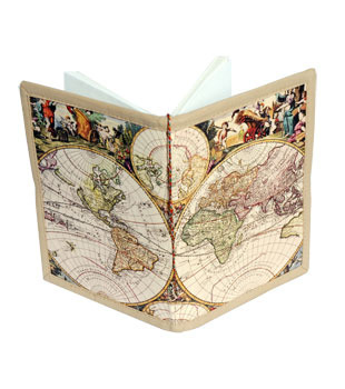 Handmade world map bahi notebook hast nirmit notebook pinnacle handmade world map bahi notebook gumiabroncs