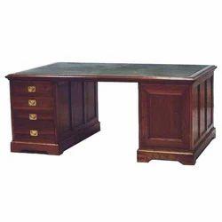 Brown Wooden Partners Desk