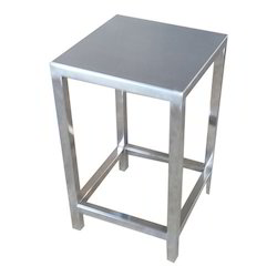 SS Stool For Restaurant, Size: 500 h x 350 w x 350 d mm