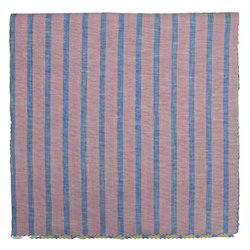 Red and Blue Striped Fabric