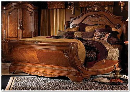 Pure Teak Wood Stylish King Size Bed Handcrafted लकड क