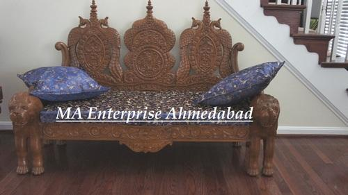 Traditional Wooden Carved Sofa