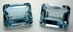 Aquamarine Faceted Octagon Gemstone