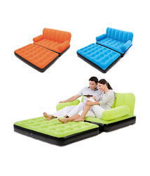 5 in 1 Velvet Inflatable Air Sofa-Bed