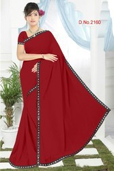 Mirror Lace Border Saree
