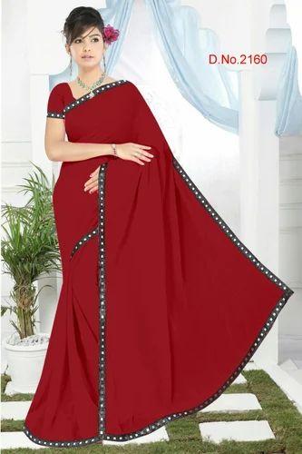 1ba7e373b98c54 Mirror Lace Border Saree, Length: 6 M, Rs 230 /piece, Keshav Madhav ...