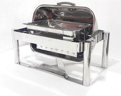 Chafing Dish - Rectangular Roll Top 8 Lit. Cap