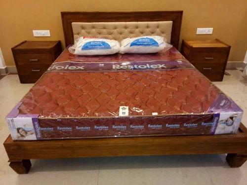 Teak Wood Queen Size Bed With Storage