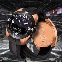 Black T-Shirt Touch Solar Watch