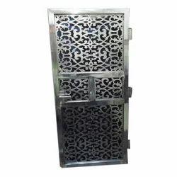 Metal Hinged Stainless Steel Single Pane HD Security Door