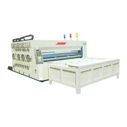 Chain Feeder Multicolor Printer Slotter Die Cutting Machine