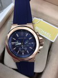 Michael Kors Men's Chronograph Navy Silicone Strap Watch