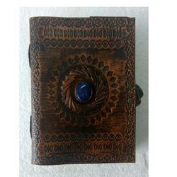 Genuine Leather Stone Stitched Diary DIRYL122