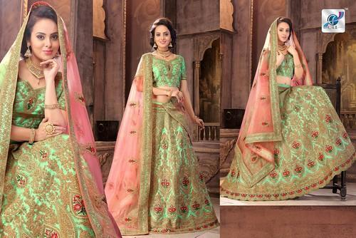 3d80b3528c Semi-stitched 4 Colurs Matchings.. Mangaldeep Lehenga, Rs 7250 /unit ...