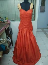 Orange Ball Gown