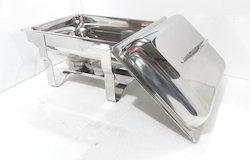 Chafing Dish - Rectangular Liftop 7-8 Lit. Cap