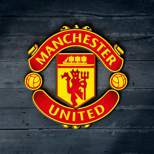 Red Manchester United Wooden Logo, Rs 899 /unit, NISH | ID ...