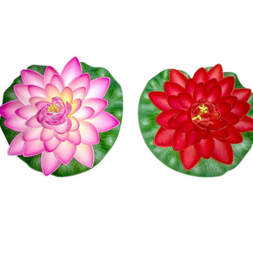 Pink Red Artificial Floating Lotus Flower Rs 40 Piece Id