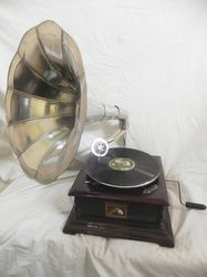 Brass Antique Gramophone