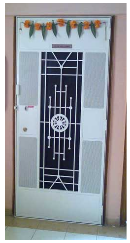 Safety Door Ashok Chakra Design At Rs 13500 Piece S Safety Door Id 11141795448