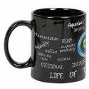 Black Printed Ceramic Mug