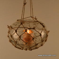 Clear Glass Decorative T-Light Hanging