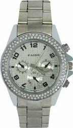 Analog Ladies Silver Watch