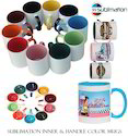 11 Oz Inner & Handle Color Coffee Mugs For Printing