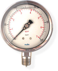 Liquid Filled Bourdon Tube Gauge