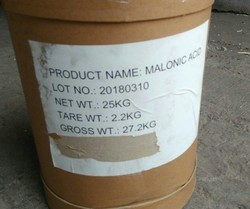 Malonic Acid, For Industrial, Packaging Size: 25 Kgs Fibre Drum
