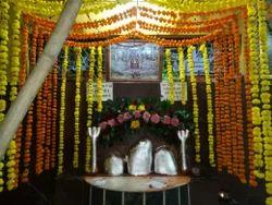 Mandir Flower Decoration