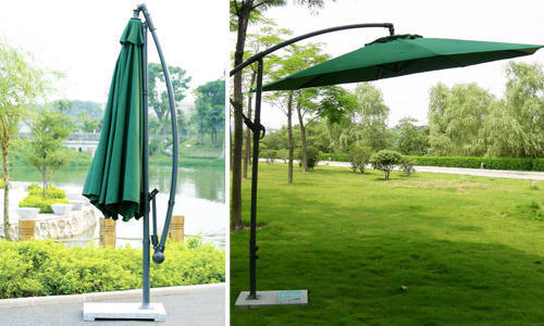 Standard Wicker Hub Metal Umbrella