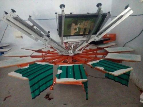 Fabric Manual Round Screen Printing Machine
