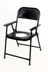 S-1 Metal Round Cut Commode Chair