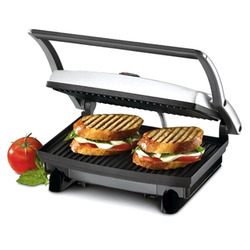 Black Aluminium Electric Sandwich Toaster Griller, for Home, Number Of Slices: 2
