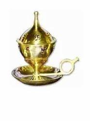Golden prakash Diya With Cap