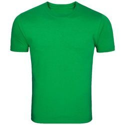 8eaeb481810 Cotton Green Round Neck Plain T-Shirt