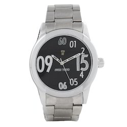 Analog Swiss Trend Sleek Black Dial Full Metallic Mens Watch