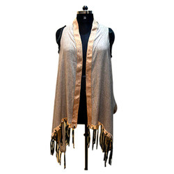 Suede Fringed Scarves