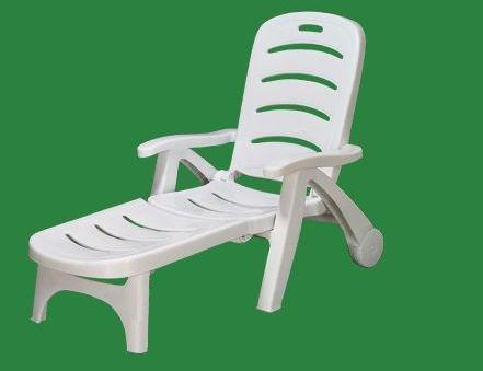 White Plastic Deck Chair Weight 8 02 Kg