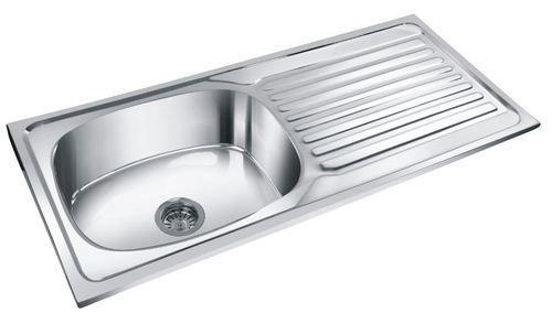 Deepali Stainless Steel Kitchen Single Bowl With Drain Board Sinks