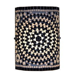 Black & White Mosaic Wall Lamp